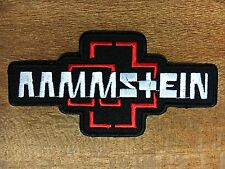 Rammstein Metal Band Logo Embroidered Iron On Patch