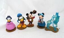 Disney Store Mickey's Christmas Carol Holiday Figurine Figure Playset Set Lot
