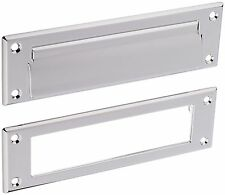 Baldwin 0015140 Letter Box Plate Chrome with Spring Tension