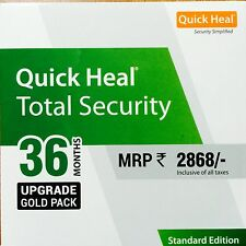 QUICK HEAL TOTAL SECURITY 36 MONTHS 1 USER 3 YEARS RENEWAL UPGRADE PACK + BILL