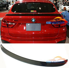 3D Style Real Carbon Fiber Rear Trunk Spoiler For BMW X4 F26 2014UP B391