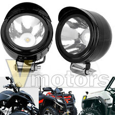 2x 6000K Aluminum LED Motorcycle Fog Spot Light Headlight Kit 12V 24V For Ducati