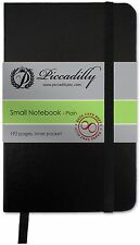 "Piccadilly Essential Notebook Small * Black 3.5 x 5.4"" Plain Paper NEW!"