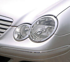 MERCEDES BENZ C CLASS 2 DOOR COUPE W203 NEW CHROME HEAD LIGHT TRIMS 2001 UP