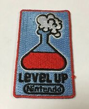 NINTENDO MARIO Level Up Gamer NES Embroided Patch Retro Gaming - RARE!