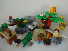 Lego Duplo Zoo Animals - Complete PHOTO SAFARI (6156) - Ostrich, Hippo, Leopard