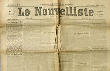 Le Nouvelliste de Lyon n°8 du 8 /01/1920 - Chez les Bolcheviks - Duc D'Orléans