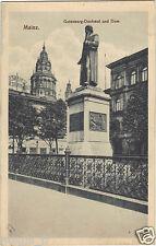 Allemagne - cpa - MAYENCE - MAINZ - Gutenberg-Denkmal und Dom  ( i 5793)