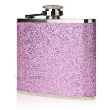 5oz Pocket Stainless Steel PU Alcohol Drink Liquor Wine Hip Flask Purple