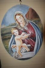 "THE AUTHENTIC FRESCO Made In Italy THE TECHNIQUE OF ""STRAPPO"" Madonna Motherhood"