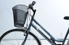 PET CARRIER FOR FRONT OF BIKE.WIRE MESH WITH HEADSET FORK FITTINGS STRONG STABLE