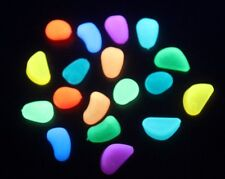 Glow In the Dark Stones, plant pots pathways, aquatic, crafting-100 pcs