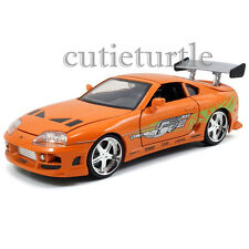 Jada Fast and Furious Brian's Toyota Supra 1:24 Diecast Model Car 97168 Orange
