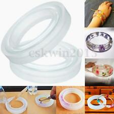 1PC Clear Round Silicone Bracelet Mould Mold For DIY Making Resin Curve Bangle