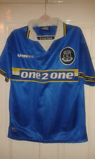 Boys Football Shirt - Everton FC - Home 1997-99 - SIGNED SCOTT GEMMILL - COA