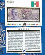 E Banknotes of All Nations Mexico 1981 100 Pesos P74a.2 AUNC Serie SS