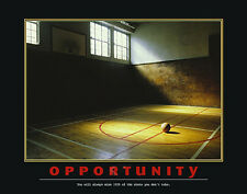 OPPORTUNITY Motivational Inspirational Basketball Poster Print (100%)