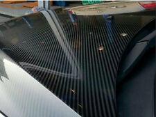 "18""x60"" 5D Carbon Fiber Vinyl Shinny Wrap Sticker Ultra Glossy Black Gloss Decal"