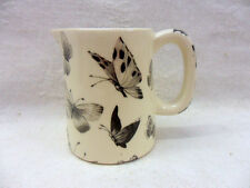 Special offer, Black butterfly mini cream jug pitcher jug by Heron Cross Pottery