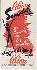 PUBLICITE ADVERTISING 094 1963 SCANDALE choisissez les bas en lilion