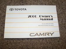 2000 Toyota Camry CE LE XLE V6 2.2L 3.0L Operator User Guide Owner Manual