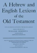 Hebrew and English Lexicon of the Old Testament by William Gesenius (1952,...