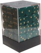 36 PEARL DICE - 6 SIDED & 12mm SIDES - GREEN !!