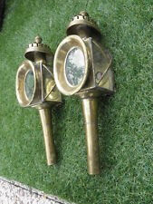 Vintage Ornate Coach House Wall Lantern Lamp Brass Outdoor Sconces Carriage old