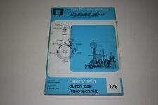 Reparaturanleitung Einstelldaten für PKW der Baujahre 1971 / 1972