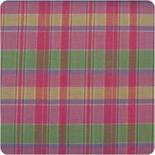 HALF YARD Cranston VIP 2005 Out of Print Pink Yellow Green Plaid Quilting Fabric