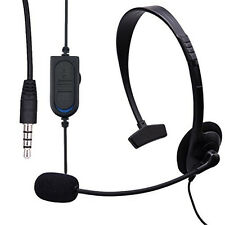 Gaming Headset Mono PS4 PlayStation PS4 PC  Smartphone Tablet  1x 3,5 Klinke