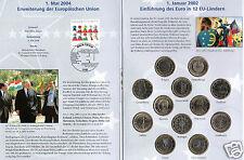 manueduc  CARTERA  con 12 Monedas de 1 Euro 12 Países  mas sello  NUEVAS