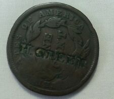 h green countermark host 1842 large cent counterstamp