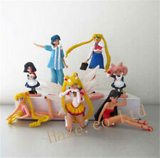 Sailor Moon Mercury Mars Chibi Moon Saturn PVC Figure 7pcs/set