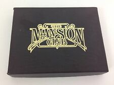 Mansion Club Box Set of Playing Cards Sealed Double Deck Redislip