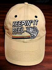 Keepin it Reel Fishing Snapback Hat Bass Shimano Daiwa Abu Penn Field Stream VGC