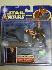 Star Wars Attack of the Clones Anakin Skywalker  with Force-Flipping Attack