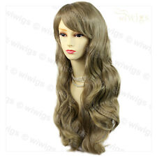 Wiwigs Beautiful Ash Blonde Long Layered Way Skin Top Ladies Wig