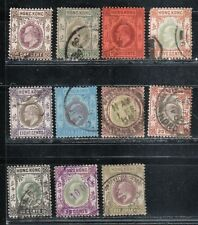 1903 British colony in China stamps, Hong Kong KEVII 1c to $1 used, CCA