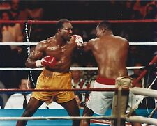 EVANDER HOLYFIELD vs LARRY HOLMES 8X10 PHOTO BOXING PICTURE