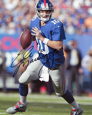 ELI MANNING-New York Giants QUARTERBACK-NFL-SIGNED AUTOGRAFO RISTAMPA