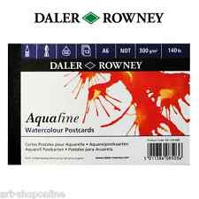 Daler Rowney Artists Aquafine Postcard Pad A6 140 lb NOT