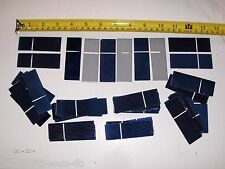 "45 1"" x 3"" solar cells .5 V x  .5 A  = 9  watt panel  using 36  great mini panel"