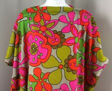Funky Vintage Handmade Floral Pillowcase Shirt Dress One Size Halloween