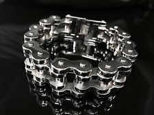 200 gram Heavy Silver Bike Chain Bracelet for Harley Davidson Biker Amazon 85