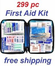299 pc First Aid Kit Emergency Bag Home Car Outdoor American Red Cross Guide Set