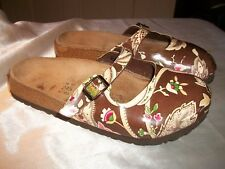 Birki's Maria By Birkenstock Womens 7 EUR 38 Filled Foot Floral Cork Clog Sandal