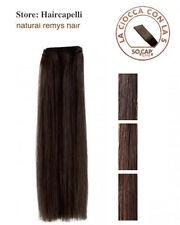 SOCAP ORIGINAL Extension matassa capelli veri umani tessitura cucita 60 cm WEFT