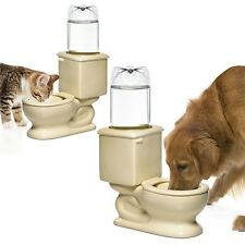 Refilling Dog Bowl Pet Cat Fresh Water Drink Convenient Indoor Toilet Automatic