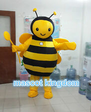 Hot Bee Mascot Costume Honeybee Cartoon Cosplay Dress Outfit Free Ship BE001